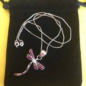 Jewelry - Pretty Sterling silver Dragonfly necklace🧚🏻♂️